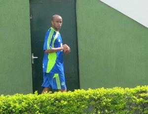 Thiago Heleno já treina no Palmeiras  - Crédito: Foto: Julyana Travaglia/GLOBOESPORTE.COM