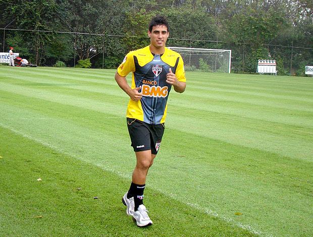 Lucas Gaúcho no treino do São Paulo - Crédito: Foto: Divulgação / Site Oficial do São Paulo