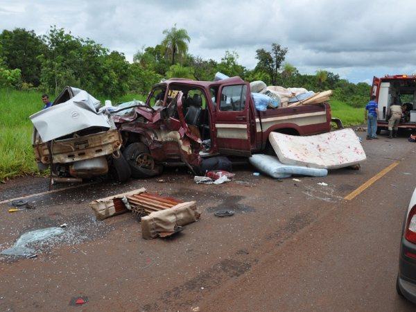 Acidente na MS 162 matou dois e deixou dois douradenses feridos gravemente Foto: Maracaju Speed  -