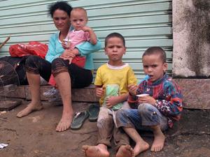 Família de Andréia ficou desabrigada após chuva em Teresópolis - Crédito: Foto: Thamine Leta/G1