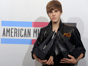 Justin Bieber no American Music Awards  - Crédito: Foto: Chris Pizzello/AP
