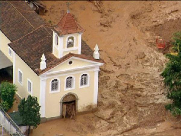 Imagem mostra lama que tomou conta de Friburgo  - Crédito: Foto: Reprodução TV Globo
