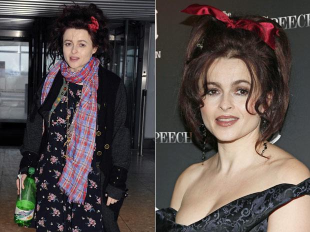 À esquerda, a atriz britânica Helena Boham Carter é vista nesta quinta-feira - Crédito: Foto: AP