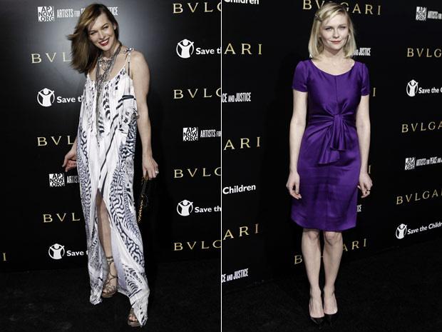 As atrizes Milla Jovovich e Kirsten Dunst participam nesta quinta-feira - Crédito: Foto: AP