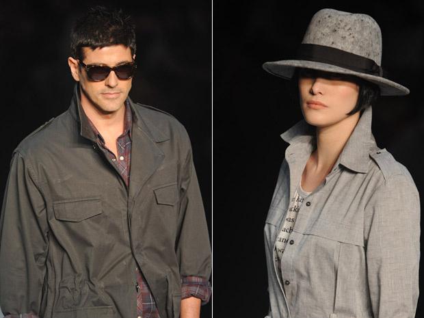 Reynaldo Gianecchini e Mayana Moura Fashion Rio - Crédito: Foto: Flavio Moraes/G1