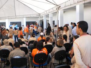 Agentes de saúde em greve durante reunião no dia 7 de janeiro - Crédito: Foto: Divulgação