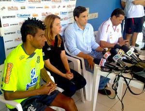 Léo Moura, Patricia Amorim, Barbosa Neto e Luxa  - Crédito: Foto: Richard Souza / Globoesporte.com