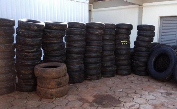 Foram encontrados 130 pneus novos e 37 pneus usados. Foto: div. -