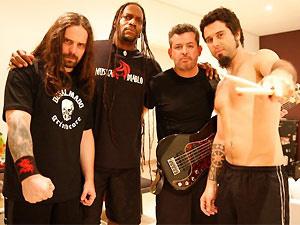 A banda de thrash metal Sepultura  - Crédito: Foto: Divulgação/Facebook do Artista