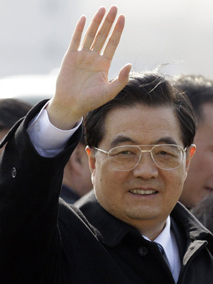 Presidente chinês Hu Jintao, terá de lidar com os desgastes na relação entre as duas potências.  - Crédito: Foto: Associated Press