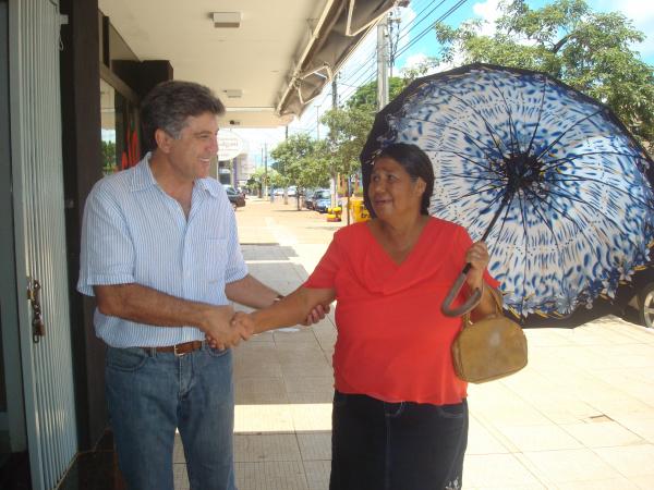 Murilo foi às ruas saber os interesses da população  - Crédito: Foto: Divulgação