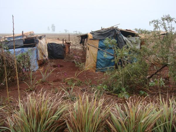 Barracos estavam abandonados em acampamentos de Dourados   - Crédito: Foto: Divugação