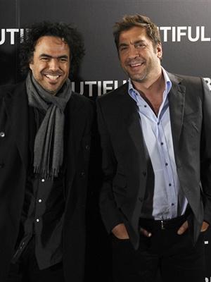 Alejandro González Iñárritu e Javier Bardem  - Crédito: Foto: AFP
