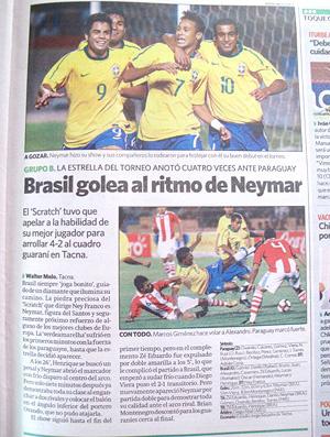 Jornal peruano exalta atuação da Seleção sub-20  - Crédito: Foto: Marcio Iannaca/Globoesporte.com