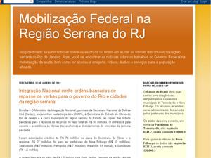 Blog criado pelo governo federal foi colocado no ar nesta terça-feira. - Crédito: Foto: Reprodução/G1