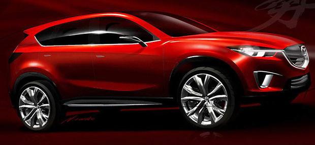 Mazda Minagi traz as linhas para uma nova proposta de SUV compacto - Crédito: Foto: Divulgação