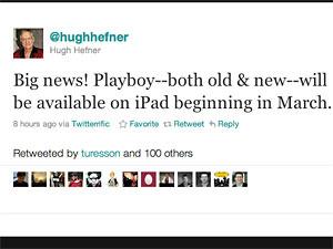Hugh Hefner, da Playboy, anuncia publicação sem censura no Twitter - Crédito: Foto: Reprodução