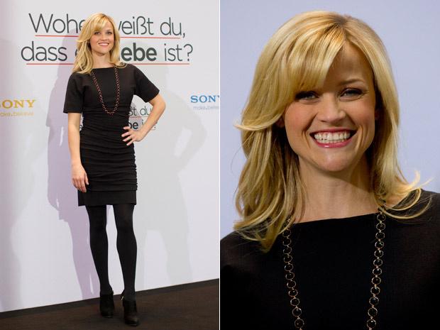 """Em Berlim, Reese Witherspoon divulga seu novo filme, \""""Como você sabe\"""", que deve estrear no Brasil em abril. A comédia romântica também traz Paul Rudd, Jack Nicholson e Owen Wilson - Crédito: Foto: Gero Breloer/AP"""