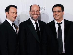 Os produtores Dana Brunetti, Scott Rudin e Michael De Luca - Crédito: Foto: Lucy Nicholson/Reuters