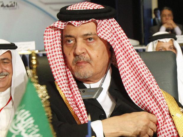 Ministro saudita das relações exteriores, Saud al-Faisal, na abertura do fórum econômico da Liga Árabe, no Egito. - Crédito: Foto: Reuters
