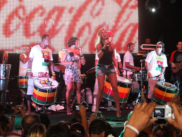 A tradicional \'terça da bênção\', ensaio pré-carnavalesco da banda Olodum, contou, nesta terça-feira - Crédito: Foto: Edgar de Souza/Divulgação
