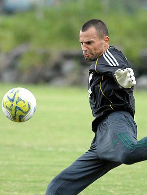 Diego Cavalieri durante treino em Mangaratiba  - Crédito: Foto: Alexandre Durão / Globoesporte.com
