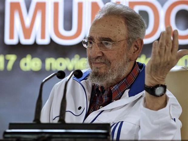 O presidente Fidel Castro durante encontro com estudantes em Havana, em 2010. - Crédito: Foto: AFP