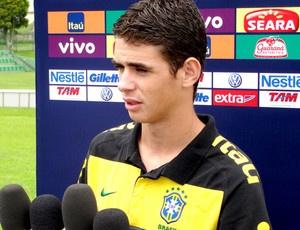 Oscar será opção de Ney Franco nesta quinta-feira  - Crédito: Foto: Marcelo Russio / Globoesporte.com