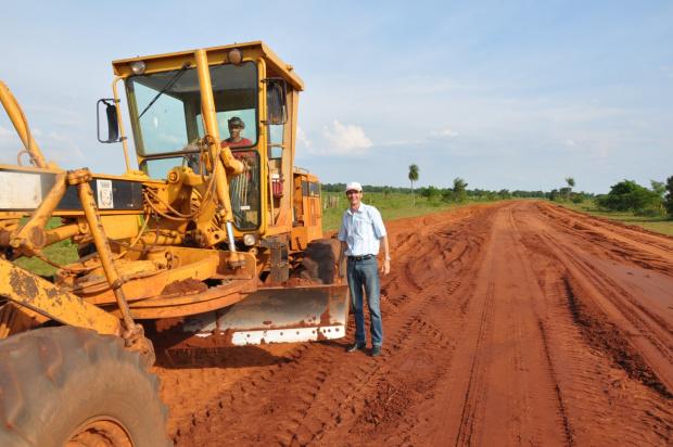 Lanzarini acompanhou recuperação e manutenção de estradas rurais   - Crédito: Foto: Divulgação