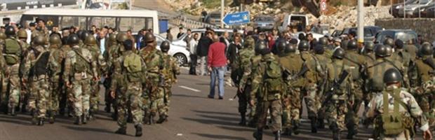 Militares barram partidários de Hariri nesta terça-feira - Crédito: Foto: AFP