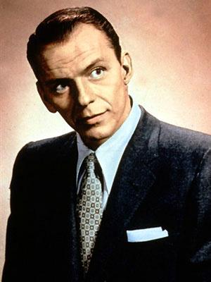 O cantor Frank Sinatra nos anos 50 - Crédito: Foto: AFP