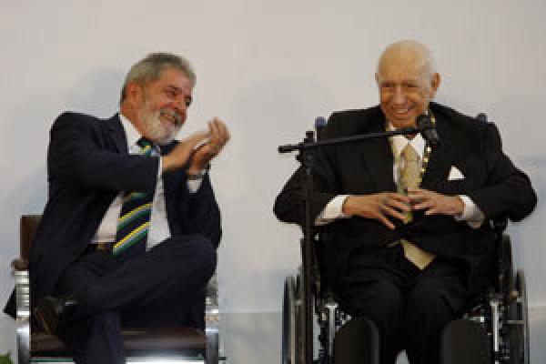 Alencar e Lula em evento na sede da Prefeitura de São Paulo - Crédito: Foto: Ayrton Vignola / Ag. Estado