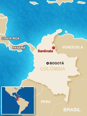Mapa localiza a cidade em que ocorreu o acidente - Crédito: Foto: Arte G1