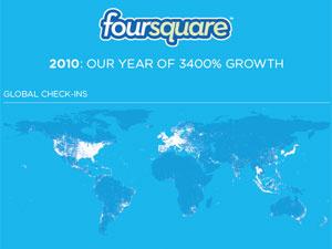Foursquare comemora resultados em post no seu blog oficial. - Crédito: Foto: Reprodução