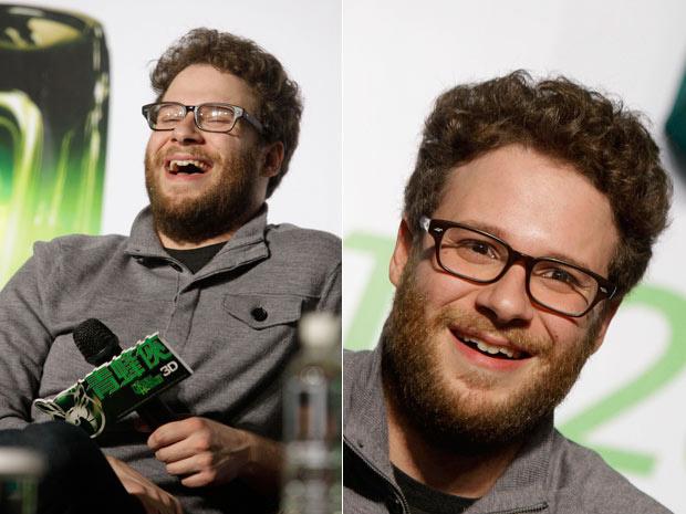 """Protagonista de \""""Besouro Verde\"""", o ator Seth Rogen lança o longa-metragem nesta quinta-feira - Crédito: Foto: Wally Santana/AP"""