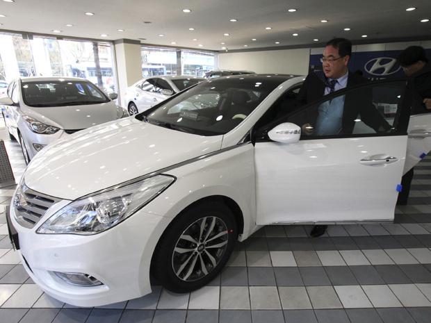Vendas da Hyundai no exterior puxaram recorde de lucro da fabricante sul-coreana - Crédito: Foto: AP