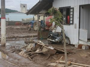 Mirim Doce, cidade atingida pela chuva em SC, decretou estado de calamidade pública  - Crédito: Foto: Divulgação/Secretaria de Comunicação
