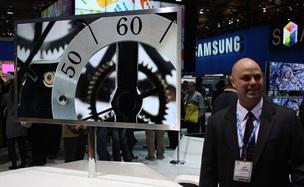 TV inteligente da Samsung, apresentada na CES em Las Vegas - Crédito: Foto: Leopoldo Godoy/G1