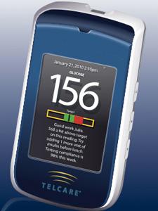 Medidor de glicose com transmissão 3G - Crédito: Foto: Reprodução/telcare.com