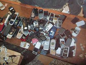Celulares apreendidos em cadeia no RS  - Crédito: Foto: Divulgação/Susepe
