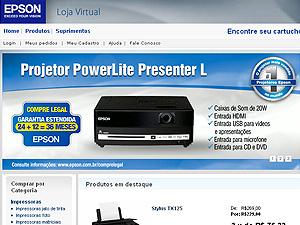 Loja Virtual da Epson - Crédito: Foto: Reprodução