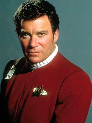 O ator canadense William Shatner na pele do Capitão Kirk - Crédito: Foto: AFP