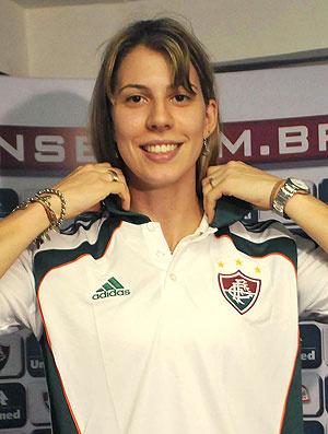 Natália Falavigna é apresentada no Fluminense  - Crédito: Foto: Agência Photocâmera