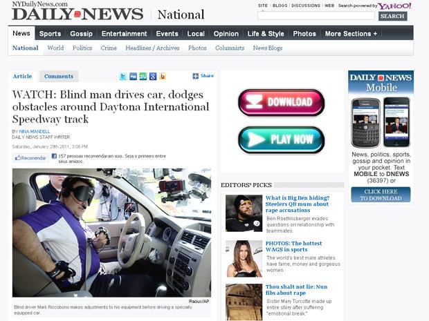 Luvas vibratórias alertam motorista sobre curvas - Crédito: Foto: Reprodução/Daily News