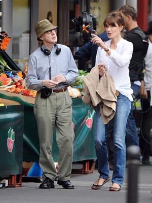 Woody Allen e Carla Bruni - Crédito: Foto: AFP