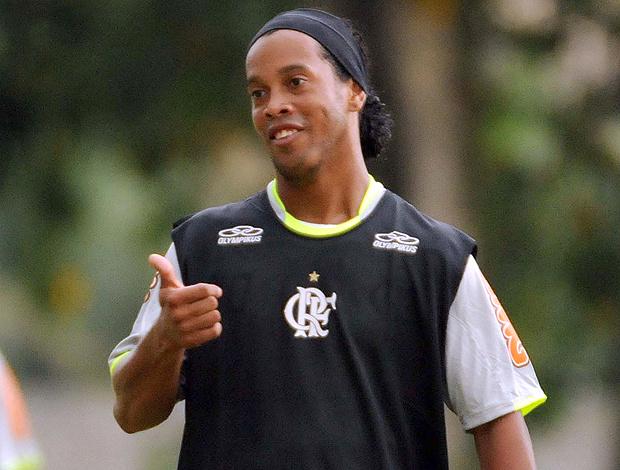 Ronaldinho está pronto para estrear no Flamengo - Crédito: Foto: Alexandre Vidal / Fla Imagem