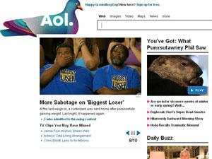 O faturamento da AOL despencou 26% no trimestre. - Crédito: Foto: Reprodução