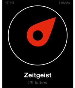 Aplicativo mostra que 29 mulheres fizeram \'check-in\' no bar da cidade de San Francisco chamado \'Zeitgeist\'.  - Crédito: Foto: Reprodução/TechCrunch