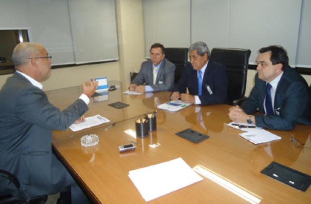 Governador André Puccinelli e deputado Giroto durante réunião em Brasília - Crédito: Foto: Divulgação