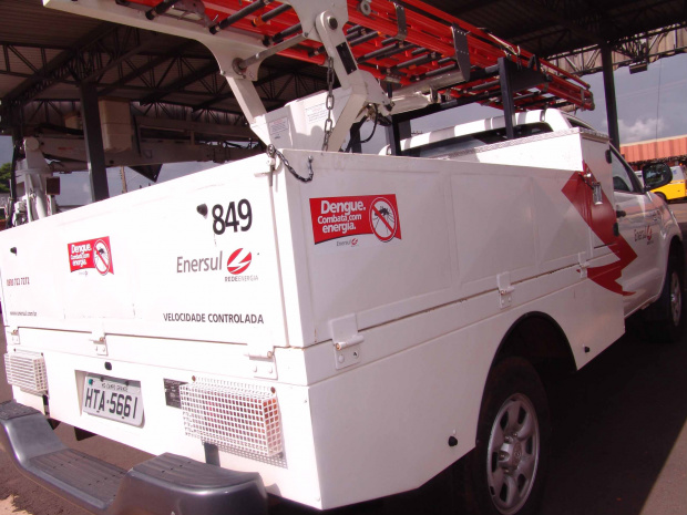 Veículos estão adesivados com o slogan da campanha - Crédito: Foto: Divulgação